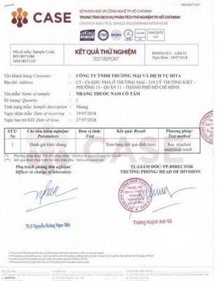 Kiểm định tiêu chuẩn nhang sạch thảo dược thuốc nam