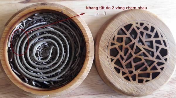 Cách đốt nhang khoanh thảo dược HITA với đế