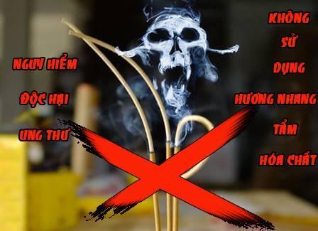 Khác với nhang sạch, nhang hoá chất rất độc hại